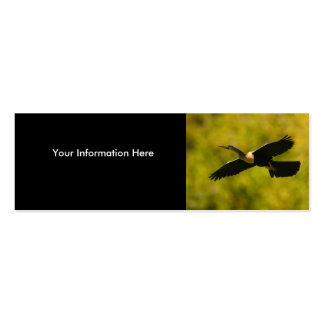 profile or business card, anhinga