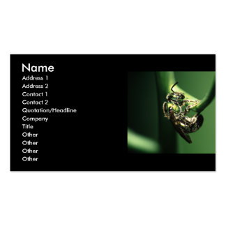 profile or business card, bee