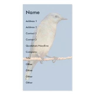 profile or business card, bluebird