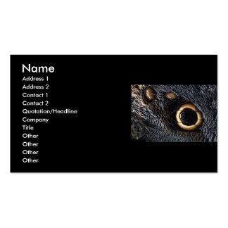 profile or business card, butterfly wing