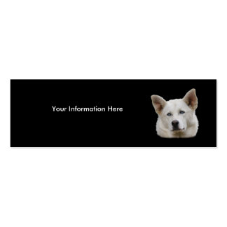 profile or business card, dog