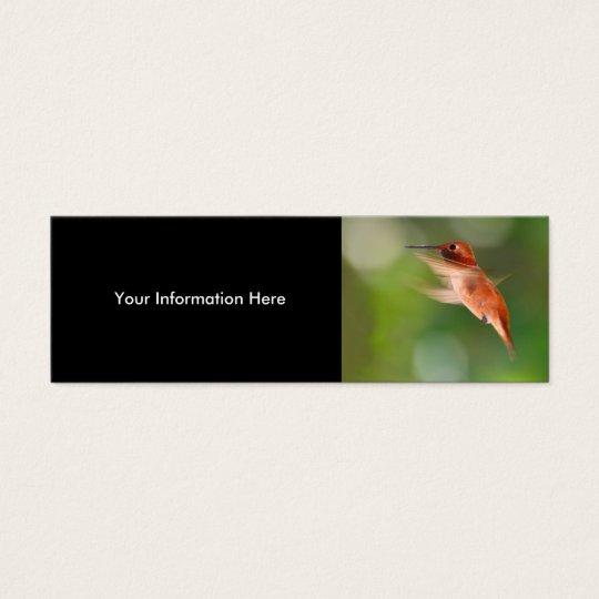 profile or business card, hummingbird mini business card