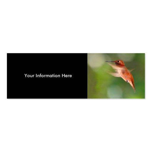 profile or business card, hummingbird pack of skinny business cards
