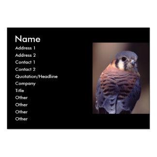 profile or business card, kestrel