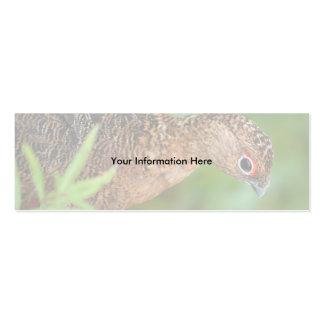 profile or business card, ptarmigan