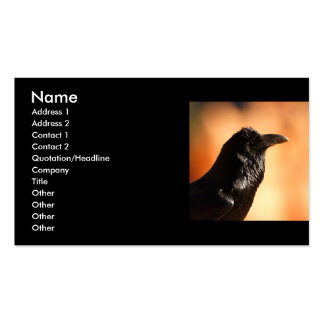 profile or business card, raven