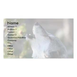 profile or business card, wolf