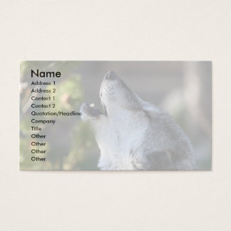 profile or business card, wolf business card