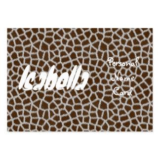 Profile Personal Name Card Animal Print Business Card