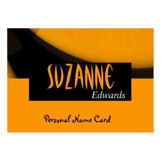 Profile Personal Name Card Black Yellow Business Card Template