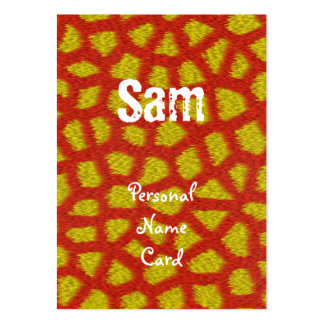Profile Personal Name Card Orange Animal Business Card