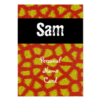 Profile Personal Name Card Orange Animal Business Card Template