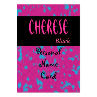 Profile Personal Name Card Pink Black Business Card Templates