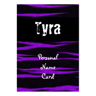 Profile Personal Name Card Purple Business Card Template