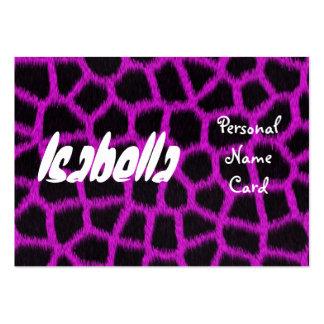 Profile Personal Name Card Purple Business Card Templates