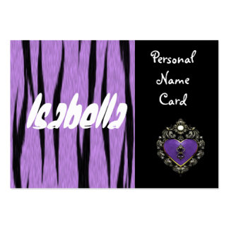 Profile Personal Name Card Purple Heart Business Card Template