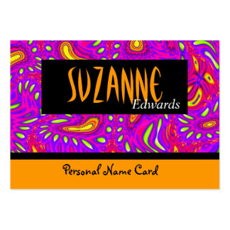 Profile Personal Name Card Summer Abstract Business Cards