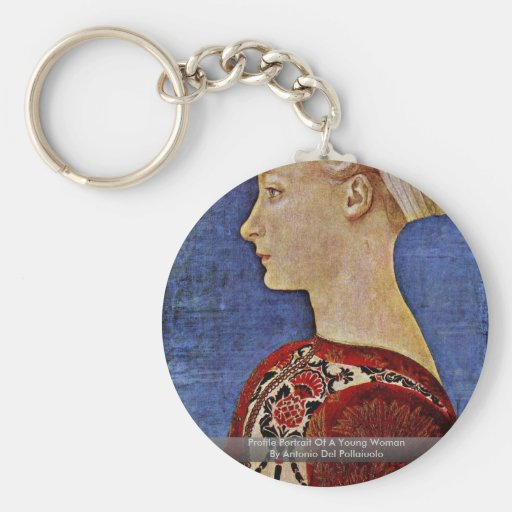 Profile Portrait Of A Young Woman Key Chains