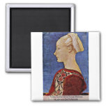Profile Portrait Of A Young Woman Refrigerator Magnet