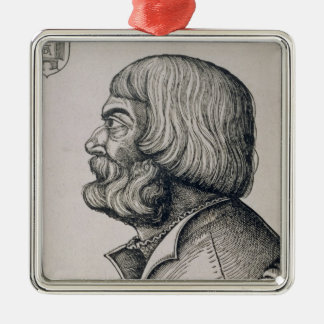Profile portrait of Albrecht Durer , 1527 Christmas Ornament