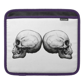 Profile Skull Black and White Sleve iPad Sleeve