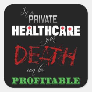 Profitable Healthcare Square Stickers