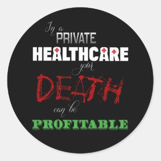 Profitable Healthcare Round Stickers