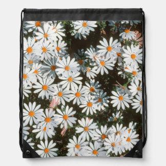 Profusion Of White Daises (Asteraceae) Drawstring Bag