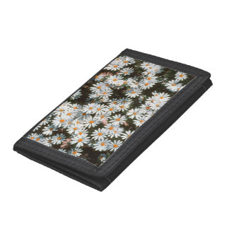 Profusion Of White Daises (Asteraceae) Trifold Wallet