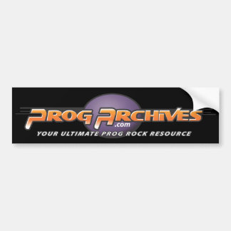 Progarchives.com Official Bumper Sticker (black)