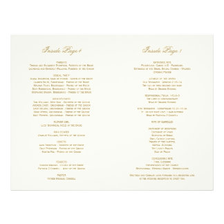 Program Interior Pages | Antique Gold Flourish