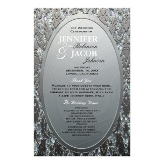 Program | Metallic Etched Silver Look 14 Cm X 21.5 Cm Flyer