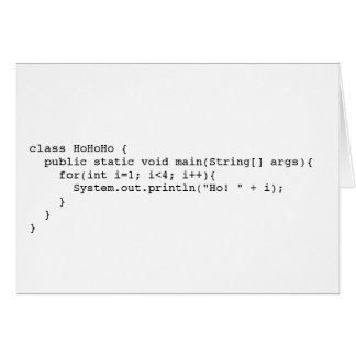 Programatic Ho! Ho! Ho! Card