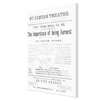 Programme for a performance of The Importance of B Canvas Print