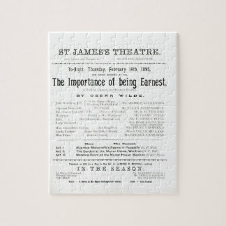 Programme for a performance of The Importance of B Jigsaw Puzzle