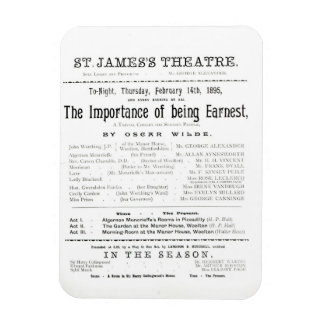 Programme for a performance of The Importance of B Magnet
