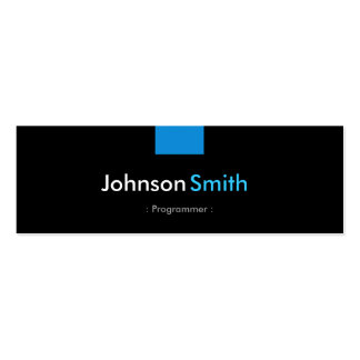Programmer - Aqua Blue Compact Pack Of Skinny Business Cards