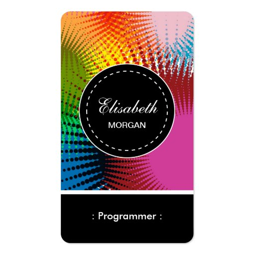 Programmer- Colorful Abstract Pattern Business Card