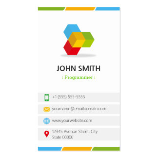 Programmer - Colorful with QR Code Pack Of Standard Business Cards