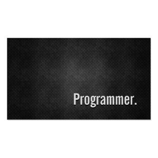 Programmer Cool Black Metal Simplicity Pack Of Standard Business Cards