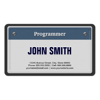 Programmer - Cool Car License Plate Business Cards