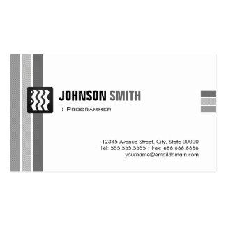 Programmer - Creative Black White Business Card Template