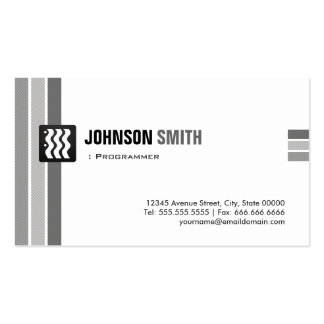 Programmer - Creative Black White Pack Of Standard Business Cards