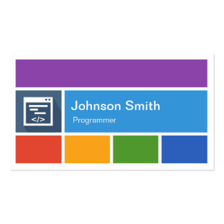 Programmer - Creative Modern Metro Style Pack Of Standard Business Cards