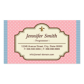Programmer - Cute Polka Dots Pack Of Standard Business Cards