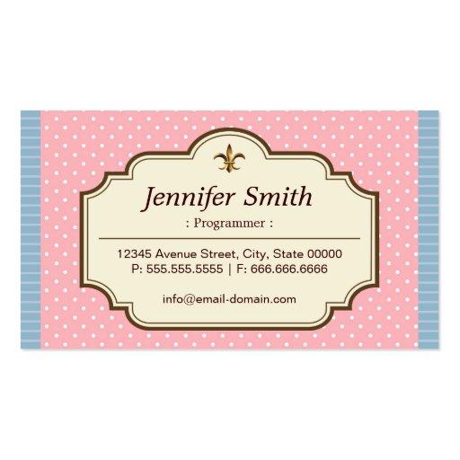 Programmer - Cute Polka Dots Business Card Template