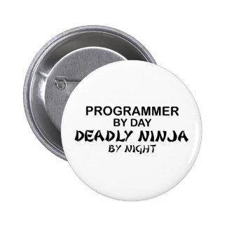 Programmer Deadly Ninja by Night 6 Cm Round Badge