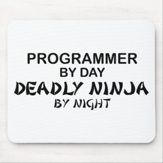 Programmer Deadly Ninja by Night Mouse Mat