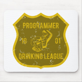Programmer Drinking League Mouse Pad