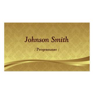 Programmer - Elegant Gold Damask Pack Of Standard Business Cards